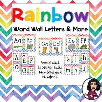 Rainbow Word Wall & MORE!