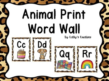 Animal Print Word Wall With Pictures