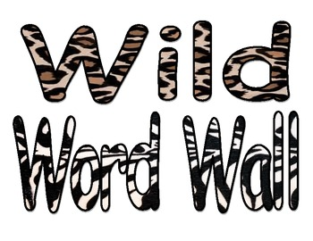 Animal Print Word wall sign