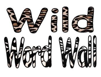 Animal Print Word wall sign