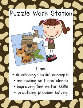 Animal Print Work Station Signs
