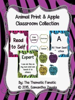 Animal Print and Apple Classroom Collection