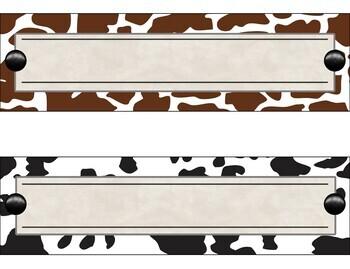 Animal Print desktop Nameplates