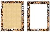 Animal Printed Border Paper