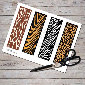 Animal Prints Bookmark Set
