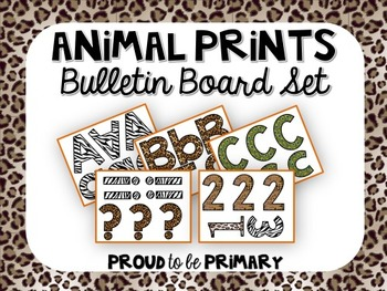 Animal Prints Bulletin Board set