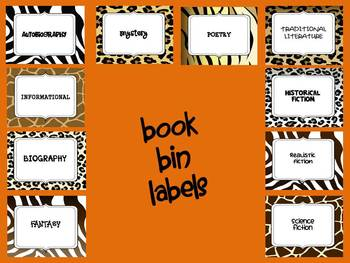 Animal Prints Classroom Genre Set