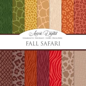 Animal Prints Digital Paper pattern safari scrapbook backg