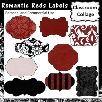 Romantic Reds Labels