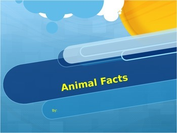 Animal Project PowerPoint Template