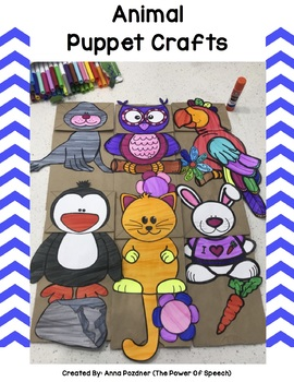 Animal Paper Bag Puppets