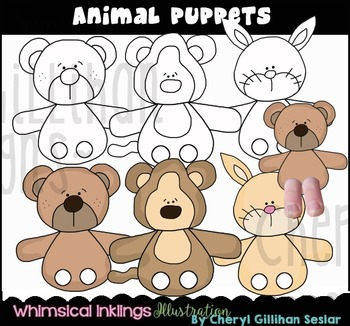 Animal Puppets Clipart Collection