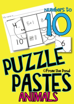 Number Worksheets - Animal Puzzle Pastes