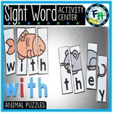Animal Puzzles {Sight Word Center}