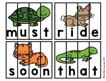 Sight Word Center {Animal Puzzles}