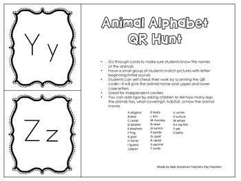 Animal QR ABC Hunt