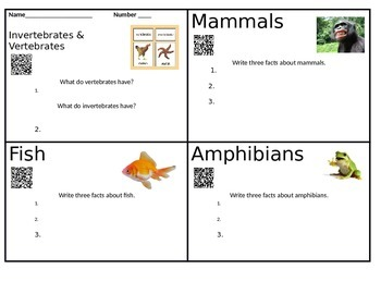 Animal QR Code Research Investigation with Comprehension Questions