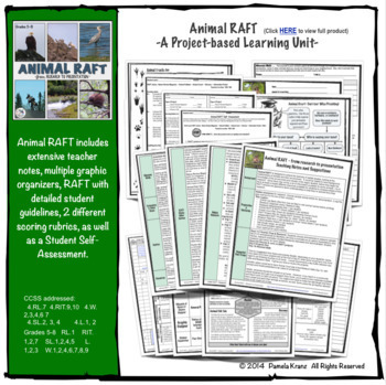 Animal Research & RAFT- Project-based Unit & Animal Readers' Theatre Bundle