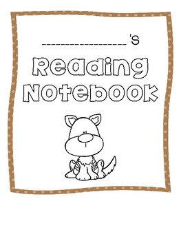 Animal Reading Notebook Covers