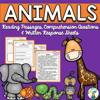 Animal Reading Passages {PLUS Comprehension Questions!}