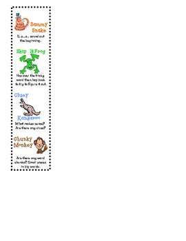 Animal Reading Strategy Bookmarks