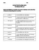 Animal Relationships Quiz - VA 3rd grade Science SOL 3.5