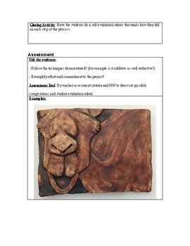 Animal Relief Sculpture Lesson Plan