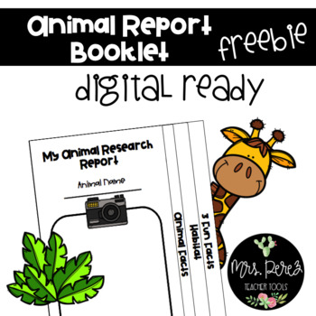 Animal Report Booklet: 5 Days of Freebies-Day 1