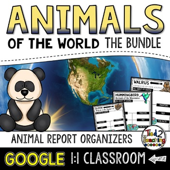 Animal Report Bundle: Animal Research and Informational Writing GOOGLE CLASSROOM