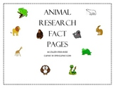 Animal Report Easy Readers and Research Graphic Organizers