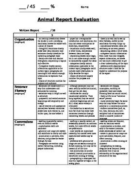 Animal Report Evaluation