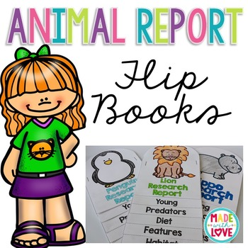 Animal Report Flip Books