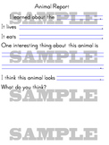 Animal Report Form with HWT Guidelines