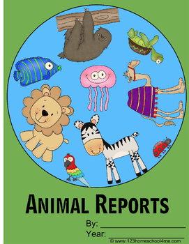 Animal Report Forms (Kindergarten - 6th grade)