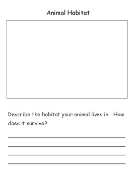 Animal Report Graphic Organizer