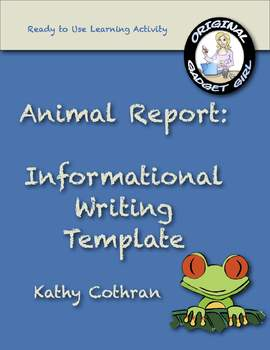 Animal Report: Informational Writing Template