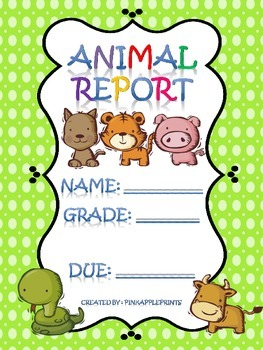 Animal Report: Outline, Parent letter, Primary Grades!
