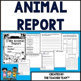 Animal Report Packet for Primary Grades