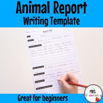 Animal Report Plan Writing Template