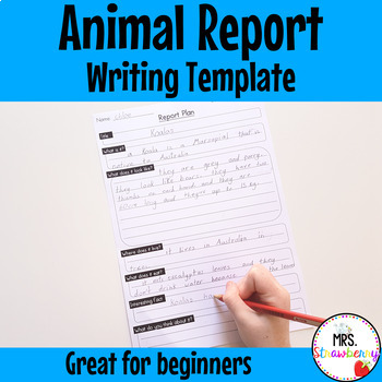 Animal Report Plan Writing Framework {Junior Primary}