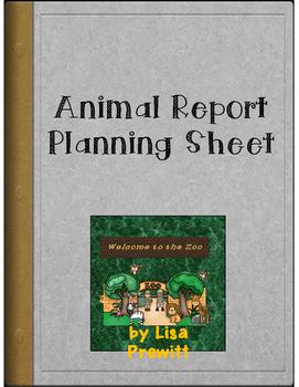 Animal Report Planning Sheet