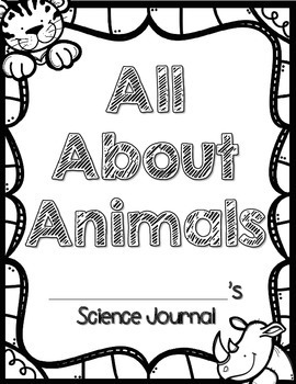 Animal Report Project & Science Journal: All About Animals [BUNDLE!]