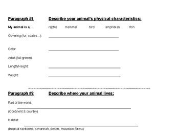 Animal Report Scaffold