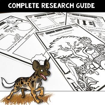 Animal Report Template | Safari Animals | Research Project