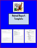 Animal Report Template - Editable