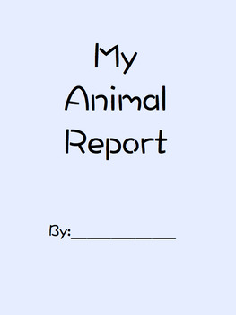 Animal Report Templete