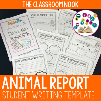 animal report writing template student created book by the