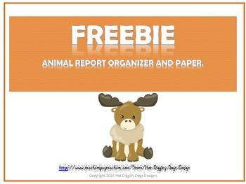 Animal Report and Graphic Organizer