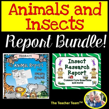 Animal Report and Insect Report Bundle