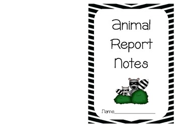 Animal Report and matching Research Notebook